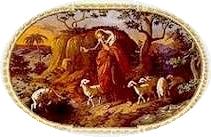 Deckenbild Christus als guter Hirte